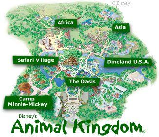 Map of Disney's Animal Kingdom