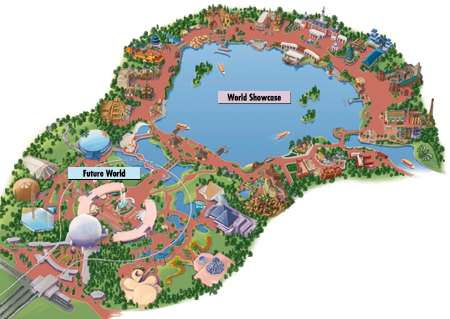 Map of Epcot
