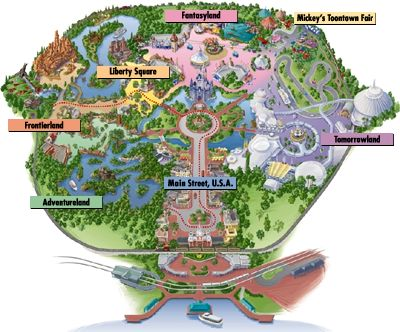Map of the Magic Kingdom